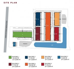Site plan of Liberty Airport Center